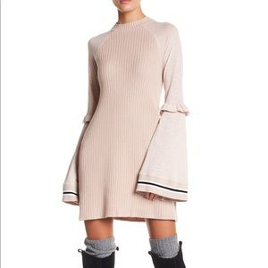 NWT Free People Knit Dress Bell Sleeve Zou Bisou